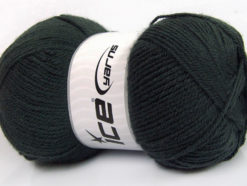 Lot of 4 x 100gr Skeins Ice Yarns GONCA Hand Knitting Yarn Dark Smoke Green