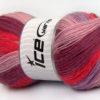 Lot of 4 x 100gr Skeins Ice Yarns ANGORA PRINT (20% Angora 20% Wool) Yarn Pink Orchid Salmon Lilac