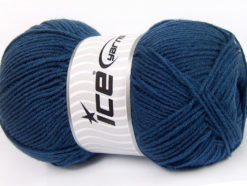 Lot of 4 x 100gr Skeins Ice Yarns ELITE WOOL (30% Wool) Hand Knitting Yarn Blue