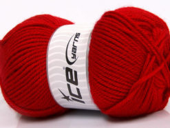 Lot of 4 x 100gr Skeins Ice Yarns Worsted FAVORITE Hand Knitting Yarn Red