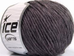 Lot of 8 Skeins Ice Yarns WOOL CORD ARAN (50% Wool) Yarn Maroon Melange