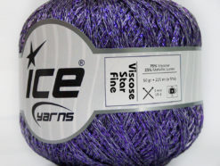 Lot of 6 Skeins Ice Yarns VISCOSE STAR FINE (75% Viscose) Yarn Lavender