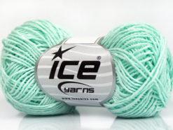 Lot of 8 Skeins Ice Yarns NATURAL COTTON FINE (100% Cotton) Yarn Light MintGreen