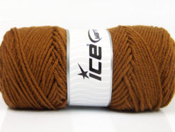 Lot of 4 x 100gr Skeins Ice Yarns SAVER 100 Hand Knitting Yarn Caramel
