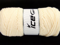 Lot of 4 x 100gr Skeins Ice Yarns SAVER 100 Hand Knitting Yarn Cream