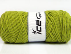 Lot of 4 x 100gr Skeins Ice Yarns SAVER 100 Hand Knitting Yarn Light Green