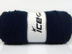 Lot of 4 x 100gr Skeins Ice Yarns SAVER 100 Hand Knitting Yarn Dark Navy