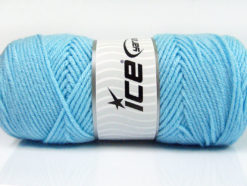 Lot of 4 x 100gr Skeins Ice Yarns SAVER 100 Hand Knitting Yarn Light Blue
