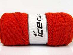 Lot of 4 x 100gr Skeins Ice Yarns SAVER 100 Hand Knitting Yarn Dark Orange