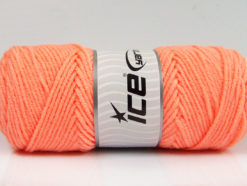 Lot of 4 x 100gr Skeins Ice Yarns SAVER 100 Hand Knitting Yarn Light Orange