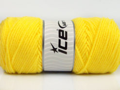 Lot of 4 x 100gr Skeins Ice Yarns SAVER 100 Hand Knitting Yarn Yellow