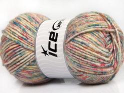 Lot of 4 x 100gr Skeins Ice Yarns WOOL MELANGE (30% Wool) Yarn Pastel Colors