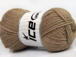 Lot of 4 Skeins Ice Yarns SILK MERINO DK (35% Silk 65% Merino Wool) Yarn Camel