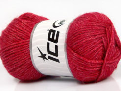 Lot of 4 Skeins Ice Yarns SILK MERINO DK (35% Silk 65% Merino Wool) Yarn Bright Red