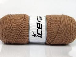 Lot of 4 x 100gr Skeins Ice Yarns BONITO (50% Wool) Hand Knitting Yarn Camel