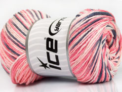 Lot of 4 x 100gr Skeins Ice Yarns DREAM Yarn Salmon Baby Pink Grey White