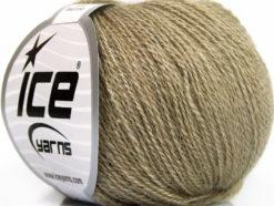 Lot of 6 Skeins Ice Yarns SILK MERINO (35% Silk 65% Merino Wool) Yarn Khaki