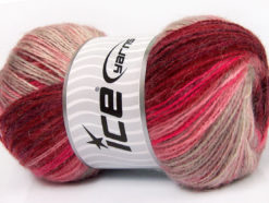 Lot of 4 x 100gr Skeins Ice Yarns ANGORA ACTIVE (25% Angora) Yarn Pink Burgundy Camel