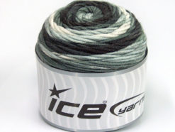 Lot of 3 x 100gr Skeins Ice Yarns CAKES BLUES Yarn Grey Shades White