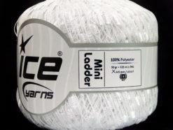 Lot of 6 Skeins Ice Yarns Trellis MINI LADDER Hand Knitting Yarn White