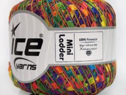 Lot of 6 Skeins Ice Yarns Trellis MINI LADDER Hand Knitting Yarn Rainbow