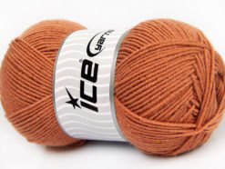 Lot of 4 x 100gr Skeins Ice Yarns ELITE WOOL (30% Wool) Yarn Tobacco