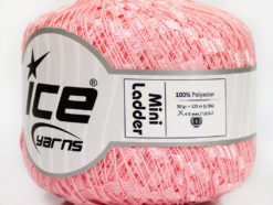 Lot of 6 Skeins Ice Yarns Trellis MINI LADDER Hand Knitting Yarn Pink