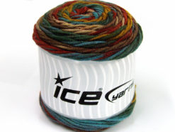 Lot of 3 x 100gr Skeins Ice Yarns CAKES BLUES Yarn Turquoise Brown Shades Green Shades