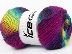 Lot of 4 x 100gr Skeins Ice Yarns LANA BELLA (30% Wool) Yarn Vivid Colors
