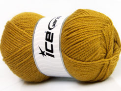 Lot of 4 x 100gr Skeins Ice Yarns FAVOURITE WOOL (50% Wool) Yarn Olive Green