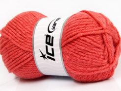 Lot of 4 x 100gr Skeins Ice Yarns WOOL BULKY GLITZ (25% Wool) Yarn Salmon