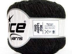 Lot of 6 Skeins Ice Yarns Trellis MINI LADDER GLITZ Hand Knitting Yarn Black