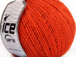 Lot of 8 Skeins Ice Yarns WOOL FINE (50% Wool) Hand Knitting Yarn Dark Orange