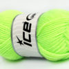 Lot of 8 Skeins Ice Yarns BABY WOOL (40% Wool) Hand Knitting Yarn Neon Green