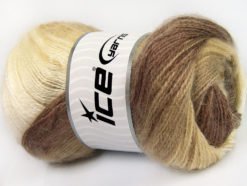 Lot of 4 x 100gr Skeins Ice Yarns MOHAIR ACTIVE (50% Mohair) Yarn Brown Shades Beige Camel