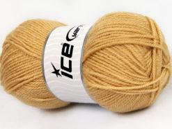 Lot of 4 x 100gr Skeins Ice Yarns FAVOURITE WOOL (50% Wool) Yarn Cafe Latte