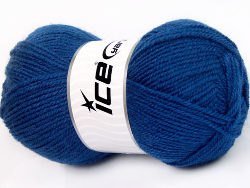 Lot of 4 x 100gr Skeins Ice Yarns FAVOURITE WOOL (50% Wool) Yarn Dark Blue