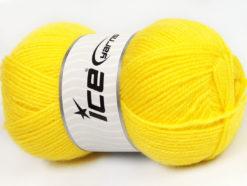 Lot of 4 x 100gr Skeins Ice Yarns FAVOURITE WOOL (50% Wool) Yarn Yellow
