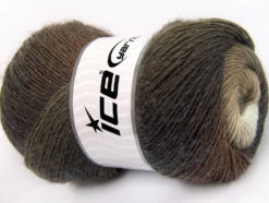 Lot of 4 x 100gr Skeins Ice Yarns ALPACA ACTIVE (20% Alpaca 20% Wool) Yarn Brown Shades
