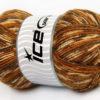 Lot of 4 x 100gr Skeins Ice Yarns BABY WOOL DESIGN (25% Wool) Yarn Brown Shades