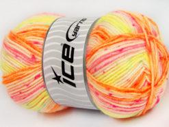 Lot of 4 x 100gr Skeins Ice Yarns BABY WOOL DESIGN (25% Wool) Yarn Neon Colors