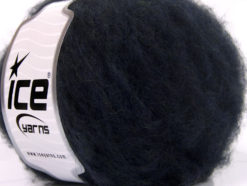 Lot of 8 Skeins Ice Yarns KAN MOHAIR (20% Mohair 25% Wool) Yarn Navy