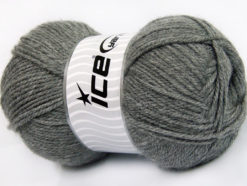 Lot of 4 x 100gr Skeins Ice Yarns Worsted FAVORITE Hand Knitting Yarn Grey