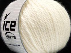 Lot of 3 x 100gr Skeins Ice Yarns SUPERBULKY WOOL (40% Wool) Yarn Cream