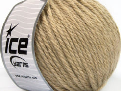 Lot of 3 x 100gr Skeins Ice Yarns SUPERBULKY WOOL (40% Wool) Yarn Light Camel