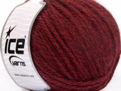 Lot of 3 x 100gr Skeins Ice Yarns SUPERBULKY WOOL (40% Wool) Yarn Burgundy