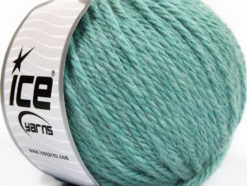 Lot of 3 x 100gr Skeins Ice Yarns SUPERBULKY WOOL (40% Wool) Yarn Light Turquoise