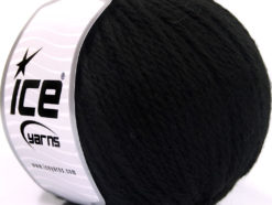 Lot of 3 x 100gr Skeins Ice Yarns SUPERBULKY WOOL (40% Wool) Yarn Black