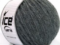 Lot of 3 x 100gr Skeins Ice Yarns SUPERBULKY WOOL (40% Wool) Yarn Dark Grey