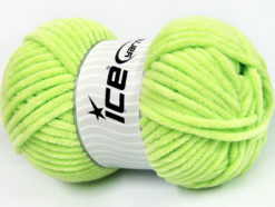 Lot of 4 x 100gr Skeins Ice Yarns CHENILLE BABY (100% MicroFiber) Yarn Light Green